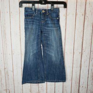 Gap Kids girls Bell Bottom Blue Jeans Adjustable